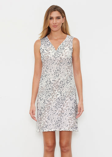 Greek Cat Grey (7752) ~ Classic Sleeveless Dress