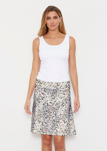 Greek Cat Grey (7752) ~ Silky Brenda Skirt 21 inch