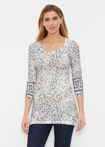 Greek Cat Grey (7752) ~ Buttersoft 3/4 Sleeve Tunic