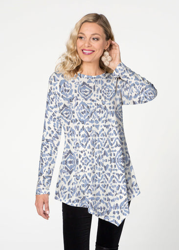 Batik Zebra  (7753) ~ Asymmetrical French Terry Tunic