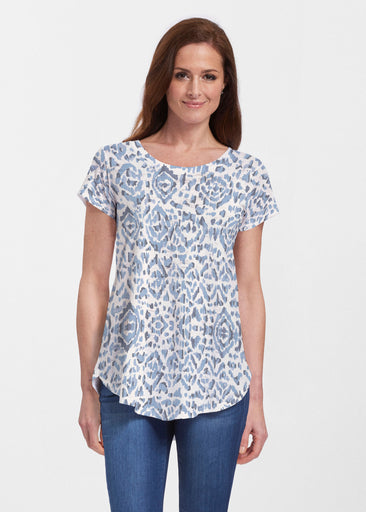Batik Zebra (7753) ~ Signature Short Sleeve Scoop Neck Flowy Tunic
