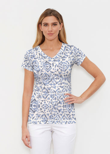 Batik Zebra (7753) ~ Signature Cap Sleeve V-Neck Shirt