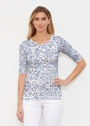Batik Zebra (7753) ~ Signature Elbow Sleeve Crew Shirt