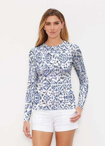Batik Zebra (7753) ~ Long Sleeve Rash Guard