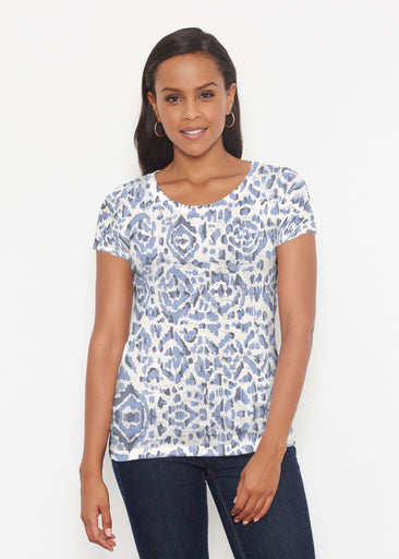 Batik Zebra (7753) ~ Short Sleeve Scoop Shirt