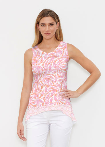 Coastal Paisley Pink (7754) ~ Signature High-low Tank