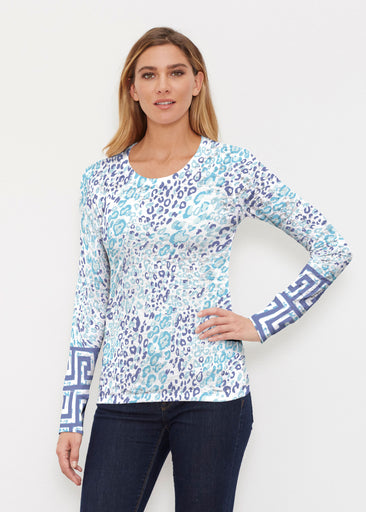 Cat Blue (7755) ~ Thermal Long Sleeve Crew Shirt