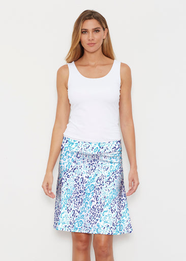 Cat Blue (7755) ~ Silky Brenda Skirt 21 inch