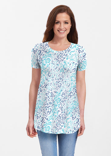 Cat Blue (7755) ~ Butterknit Short Sleeve Tunic
