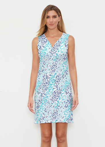 Cat Blue (7755) ~ Vivid Sleeveless Dress