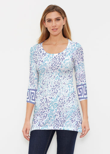 Cat Blue (7755) ~ Buttersoft 3/4 Sleeve Tunic