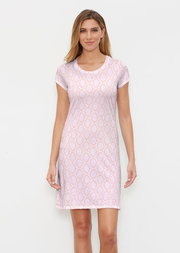Coastal Lace Pink (7757) ~ Classic Crew Dress