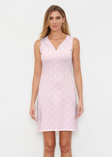 Coastal Lace Pink (7757) ~ Classic Sleeveless Dress