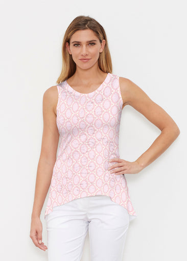 Coastal Lace Pink (7757) ~ Signature High-low Tank