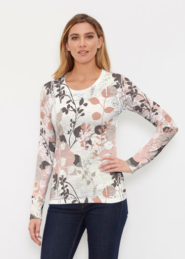 Flowers and Foliage (7765) ~ Thermal Long Sleeve Crew Shirt