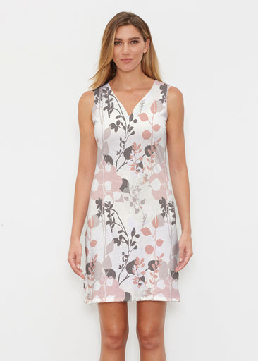 Flowers and Foliage (7765) ~ Classic Sleeveless Dress