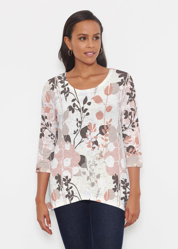 Flowers and Foliage (7765) ~ Katherine Hi-Lo Thermal Tunic