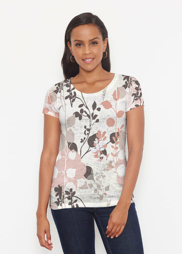 Flowers and Foliage (7765) ~ Signature Short Sleeve Scoop Shirt