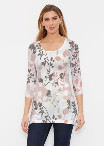 Flowers and Foliage (7765) ~ Buttersoft 3/4 Sleeve Tunic