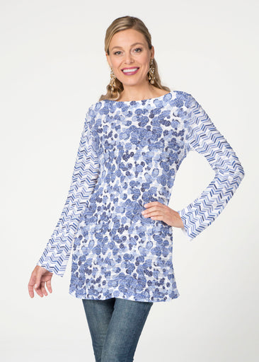Oh Stamped  (7748) ~ Banded Boatneck Tunic