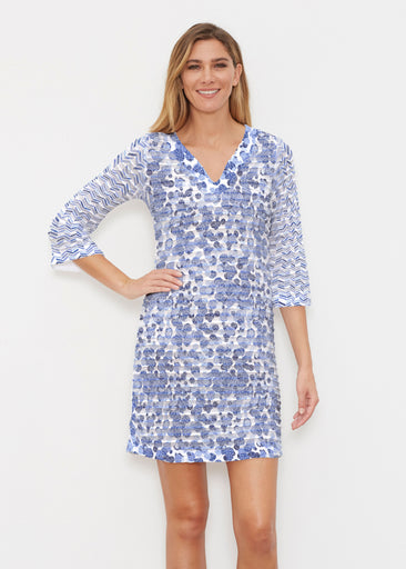 Oh Stamped (7784) ~ Banded 3/4 Sleeve Cover-up Dress