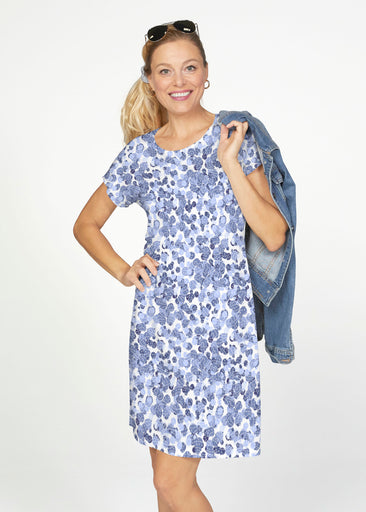 Oh Stamped (7784) ~ Smooth Terry Short Sleeve Crew Dress