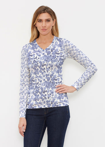 Oh Stamped (7784) ~ Butterknit Long Sleeve V-Neck Top