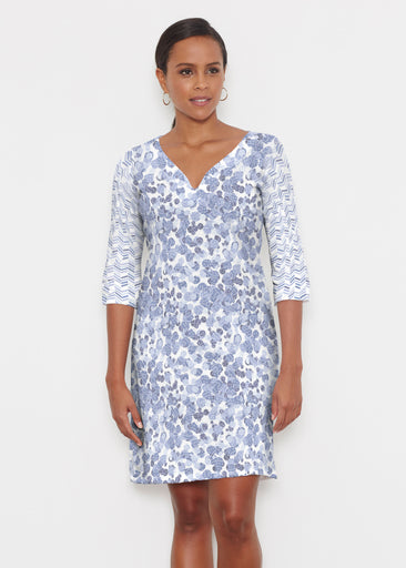 Oh Stamped (7784) ~ Classic 3/4 Sleeve Sweet Heart V-Neck Dress