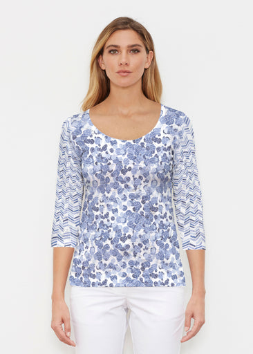 Oh Stamped (7784) ~ Signature 3/4 Sleeve Scoop Shirt