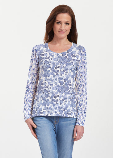 Oh Stamped (7784) ~ Texture Mix Long Sleeve