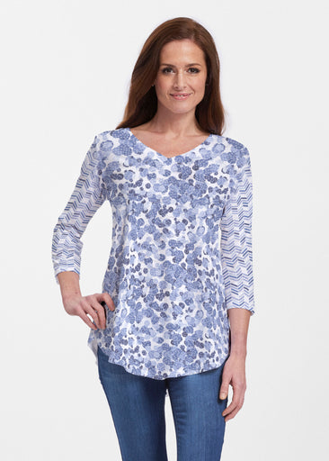Oh Stamped (7784) ~ Signature V-neck Flowy Tunic