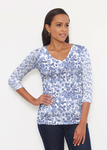 Oh Stamped (7784) ~ Signature 3/4 V-Neck Shirt