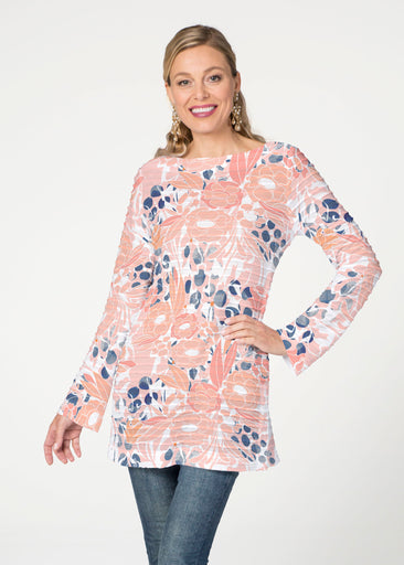 Daydream Floral (7805) ~ Banded Boatneck Tunic