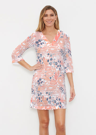 Daydream Florals (7805) ~ Banded 3/4 Sleeve Cover-up Dress