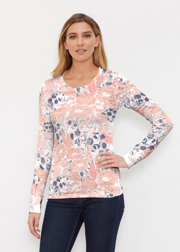 Daydream Florals (7805) ~ Thermal Long Sleeve Crew Shirt
