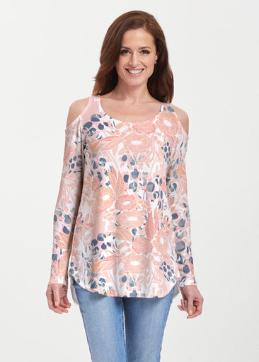 Daydream Florals (7805) ~ Butterknit Cold Shoulder Tunic