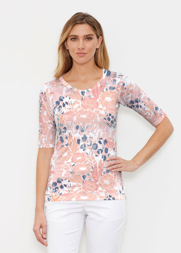Daydream Florals (7805) ~ Signature Elbow Sleeve Crew Shirt