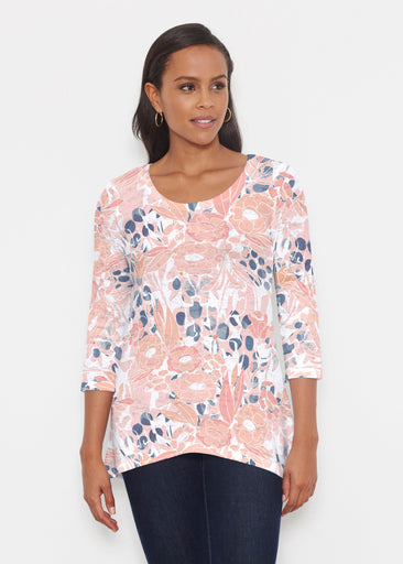 Daydream Florals (7805) ~ Katherine Hi-Lo Thermal Tunic