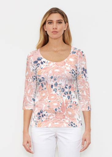 Daydream Florals (7805) ~ Signature 3/4 Sleeve Scoop Shirt
