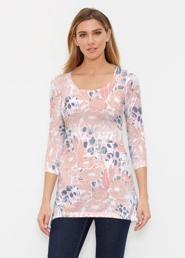 Daydream Florals (7805) ~ Buttersoft 3/4 Sleeve Tunic