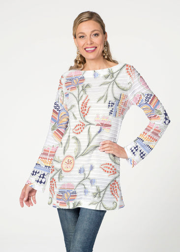 Patterns at Play (7806) ~ Banded Boatneck Tunic