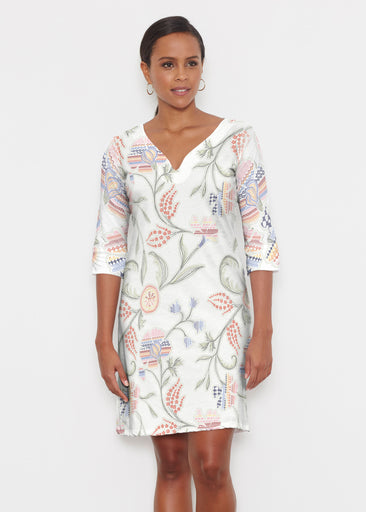 Patterns at Play (7806) ~ Classic 3/4 Sleeve Sweet Heart V-Neck Dress