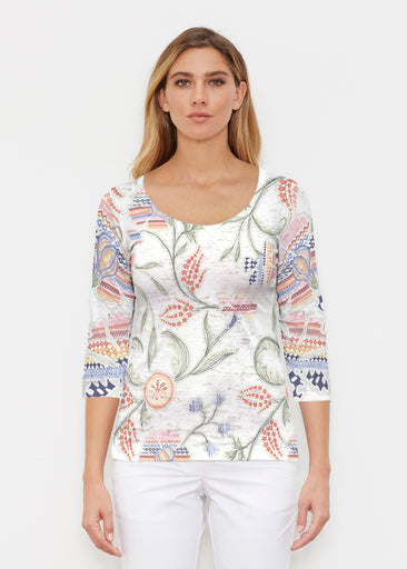 Patterns at Play (7806) ~ Signature 3/4 Sleeve Scoop Shirt
