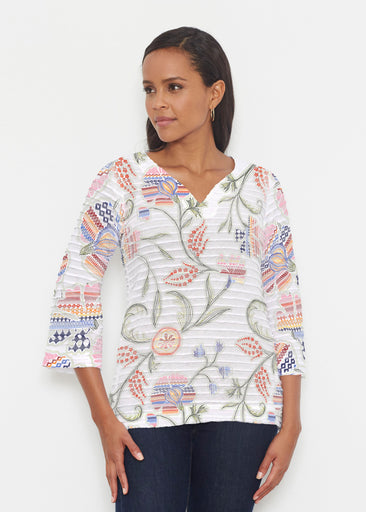 Patterns at Play (7806) ~ Banded 3/4 Bell-Sleeve V-Neck Tunic
