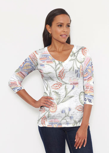 Patterns at Play (7806) ~ Signature 3/4 V-Neck Shirt