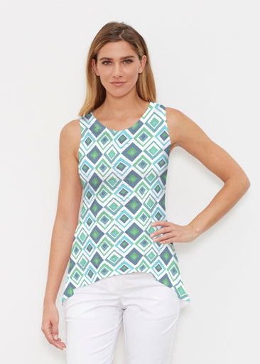 Cubed Blue (7807) ~ Signature High-low Tank