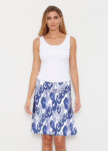 Royal Blue Ikat (7808) ~ Silky Brenda Skirt 21 inch