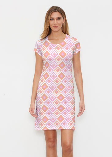 Cubed Pink (7809) ~ Classic Crew Dress