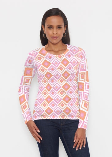 Cubed Pink (7809) ~ Signature Long Sleeve Crew Shirt