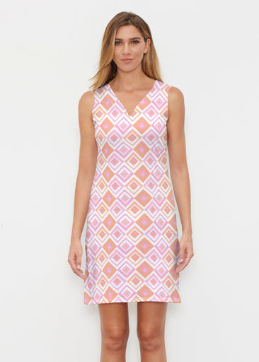 Cubed Pink (7809) ~ Classic Sleeveless Dress